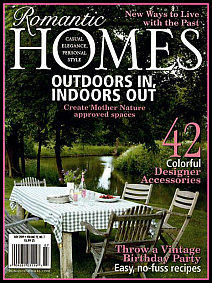 Romantic Homes magazine cover - click to view larger