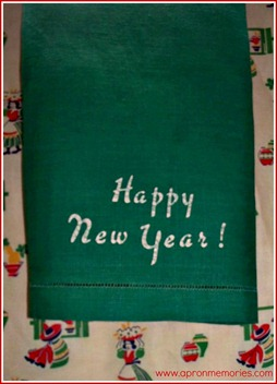 Happy New Year towel www