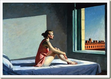 Hopper portrait_woman staring out window