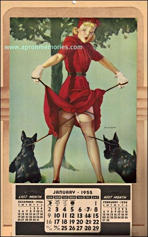 VINTAGE CALENDAR PIN UP 1955 www (Medium)