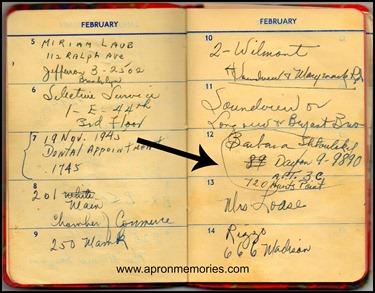 Daddy Address Book with Mamas info www