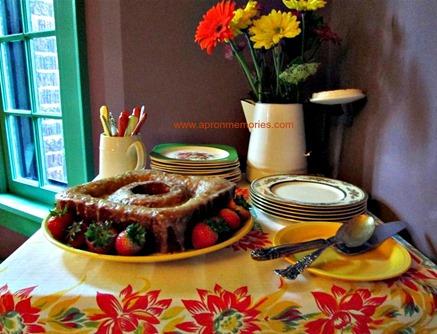 Dessert Side Table set up www