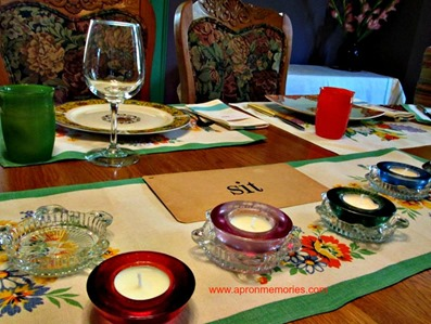 Dining Table scape_ashtrays as votive holders www