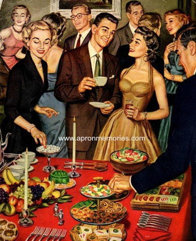 1950s party pamphlet cover BUFFET www