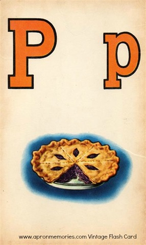 P is for Pie flashcard www