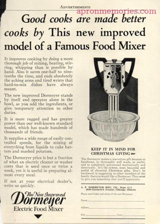 Elec Mixer 1920s ad