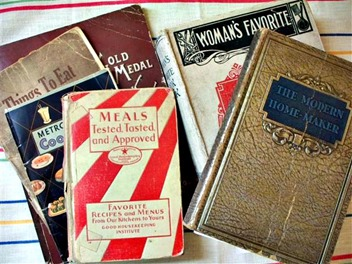 vintage cookbooks_array