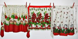 Christmas Aprons Clothesline